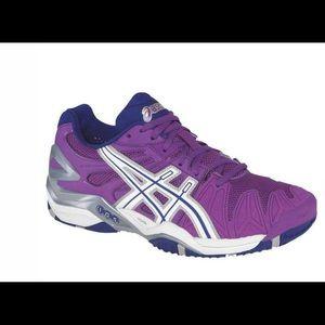 ASICS Gel Resolution 5 Grape Tennis Sneakers NEW